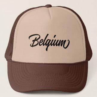 Casquette Nom du pays de typographie pour la Belgique