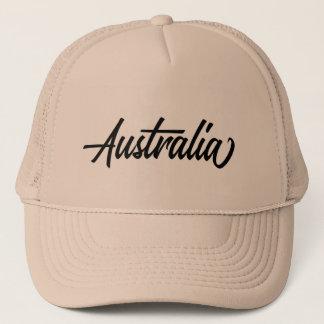 Casquette Nom du pays de typographie pour l'Australie