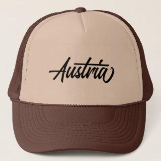 Casquette Nom du pays de typographie pour l'Autriche