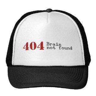 Casquette non trouvé de cerveau de l'erreur 404