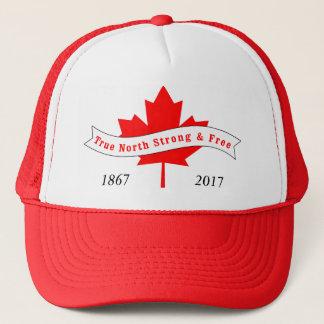 Casquette Nord vrai du Canada fort et libre