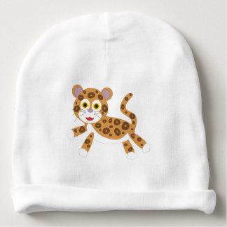 Casquette nouveau-né de forêt tropicale de jaguar bonnet de bébé