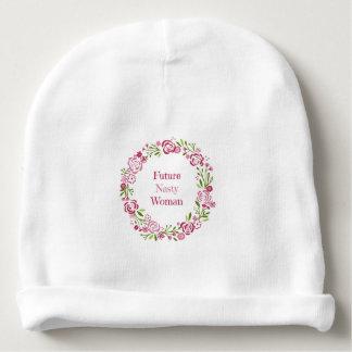 Casquette nouveau-né de future calotte méchante de bonnet de bébé