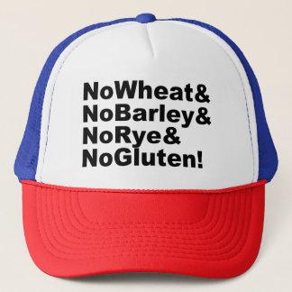 Casquette NoWheat&NoBarley&NoRye&NoGluten ! (noir)