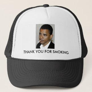 Casquette Obama, Merci pour le tabagisme