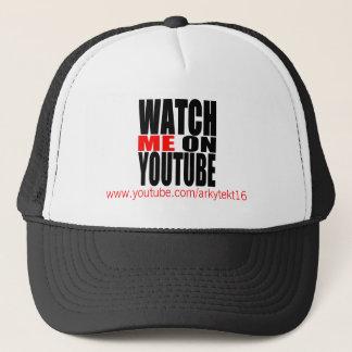 Casquette Observez-moi sur YouTube | modernes (foncé)