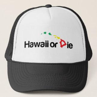 Casquette OG Hawaï ou meurent logo - couleurs de Rasta