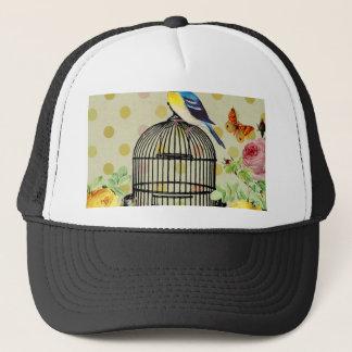 Casquette oiseau floral, art, conception, beau, nouvelle,