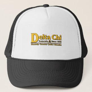 Casquette Or de nom et de logo de Chi de delta