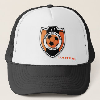 CASQUETTE ORANGE DE CAMIONNEUR D'IMPULSION