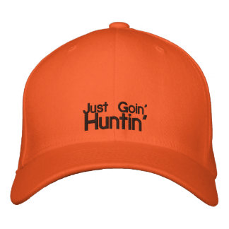 Casquette orange de chasseur