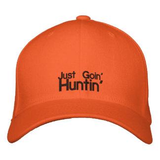 Casquette orange de chasseur casquette brodée