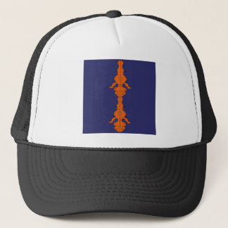 Casquette Orange romane merveilleuse d'édition sur le bleu