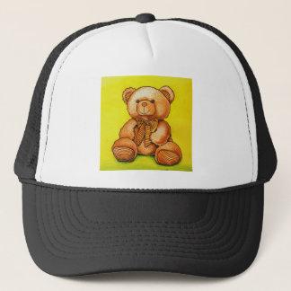 Casquette ours en peluche avec un noeud papillon