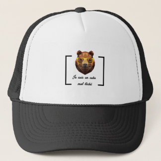 Casquette Ours Hipster - Low Poly