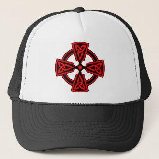 Casquette païen saxon rouge de wicca de Viking de croix