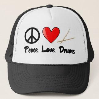 Casquette Paix, amour, et tambours