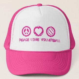 Casquette Paix, amour, rose final v2 de volleyball