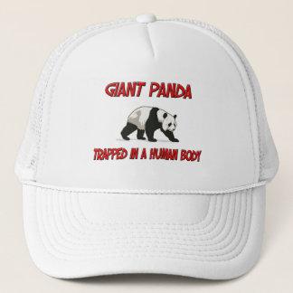 Casquette Panda géant emprisonné à un corps humain