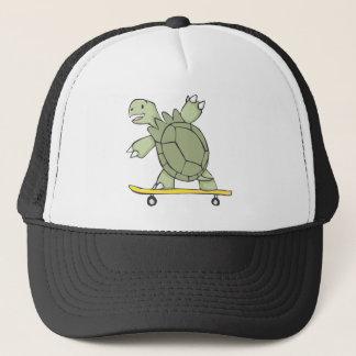 Casquette Panneau heureux de patin d'équitation de tortue