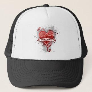 Casquette Paon de coeur