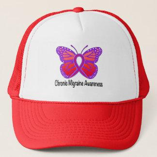 Casquette Papillon chronique de conscience de migraine
