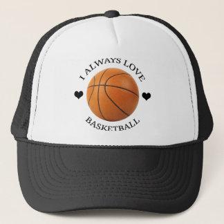 Casquette passion de sport d'amour de basket-ball