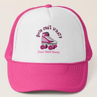 Casquette Patin de Derby de rouleau - rose