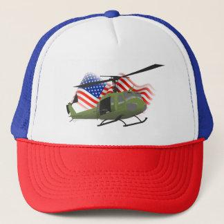 Casquette patriotique de camionneur d'UH-1 Huey