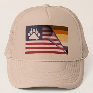 Casquette Patte de fierté d'ours de drapeau américain