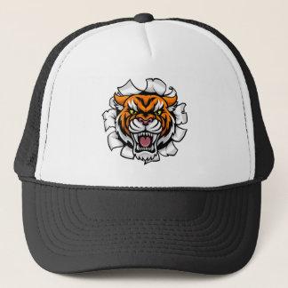 Casquette Percée fâchée d'arrière - plan de tigre