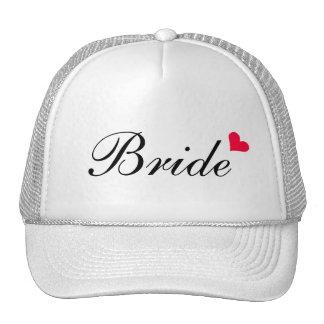Casquette personnalisable blanc de jeune mariée de
