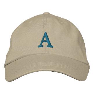 Casquette personnalisable d'initiale de monogramme casquette brodée