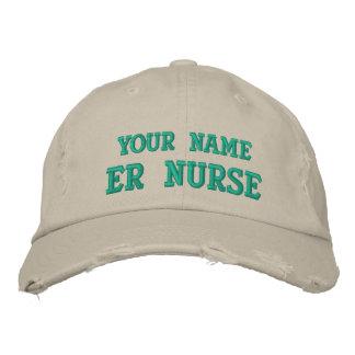 Casquette personnalisé affligé d'infirmière d'ER