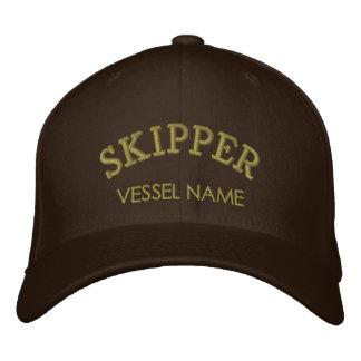 Casquette personnalisé de capitaine de nom de casquette brodée