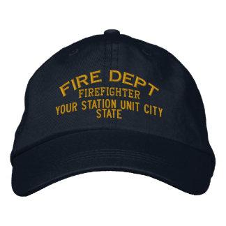 Casquette personnalisé de sapeur-pompier