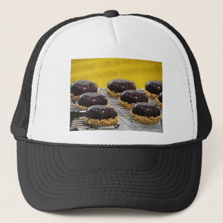 Casquette Petits gâteaux de chocolat vitrés avec des grains