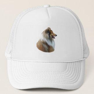 Casquette Photo rugueuse de portrait de chien de colley