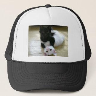 Casquette PIC mignonne des chatons noirs et blancs