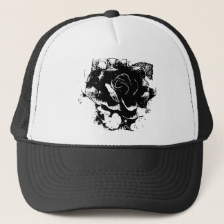 Casquette Pièce en t de rose de noir