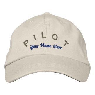 Casquette pilote de coutume d'aviateur casquette brodée