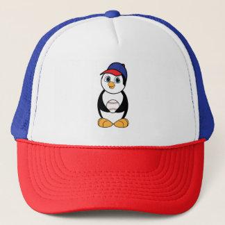 Casquette Pingouin avec le rouge, le blanc et le bleu de