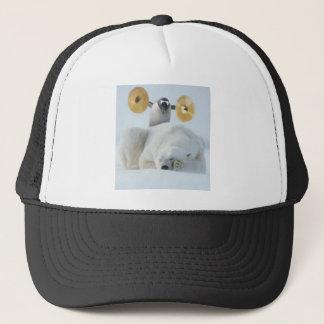 Casquette Pingouin mignon et ours blanc avec des cymbales