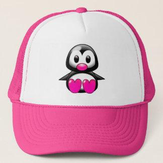 Casquette Pingouin rose mignon