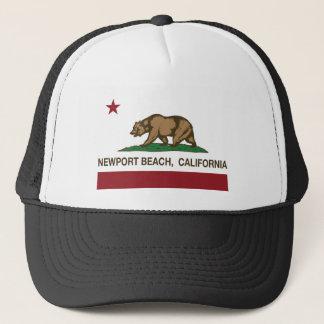 Casquette plage de Newport de drapeau d'état de californa