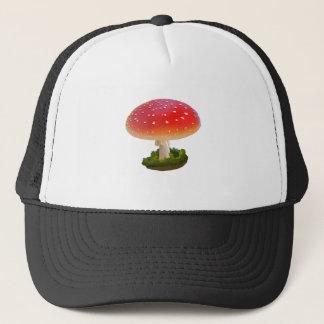 Casquette Points rouges de blanc d'art de champignon