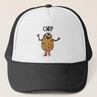 Casquette Pomme de terre drôle appelée Chip Cartoon