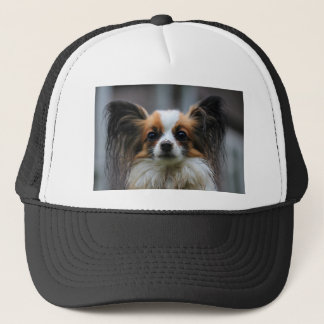 Casquette Portrait de chien de race de Papillon