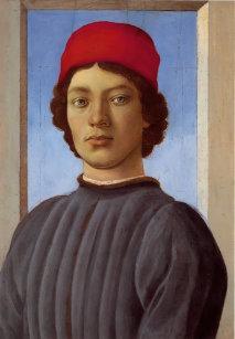 9ca42fe760a0b Casquette Portrait de Sandro Botticelli- d'un jeune homme,