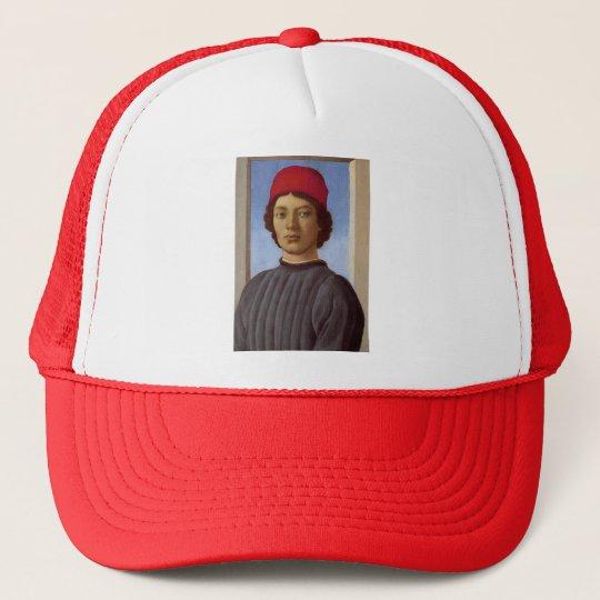 753744f480cc3 Casquette Portrait de Sandro Botticelli- d'un jeune homme, | Zazzle.fr